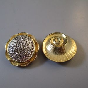 Vintage scarf pull clips lot of 2